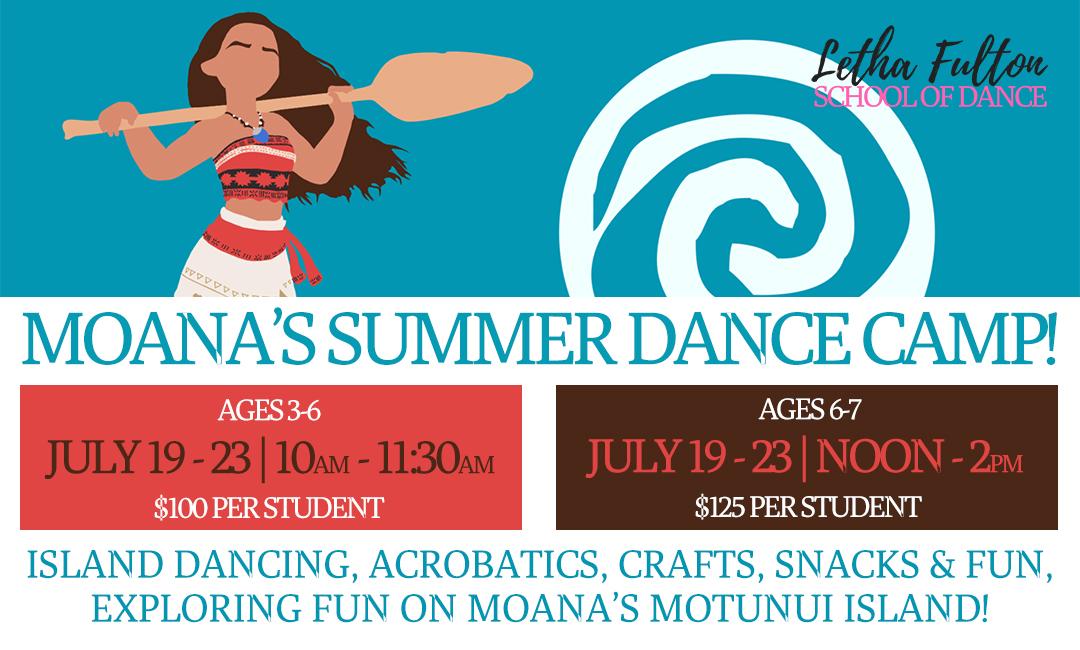 Moana's Summer Dance Camp