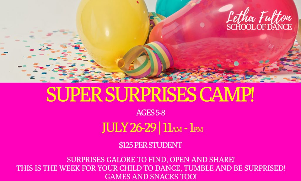 Super Surprises Dance Camp